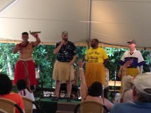 My dad getting his hula on