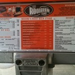 Root Beer Stand menu